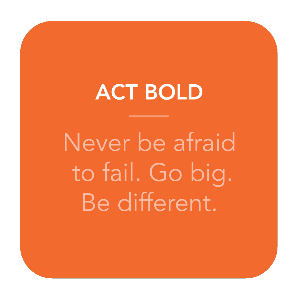 Act Bold.