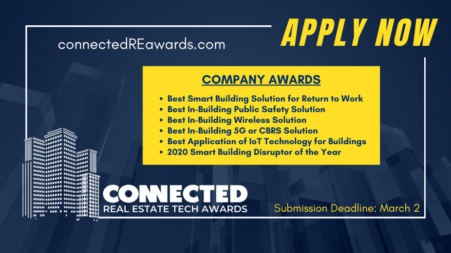 Connected Real Estate Tech Awards Apply Now