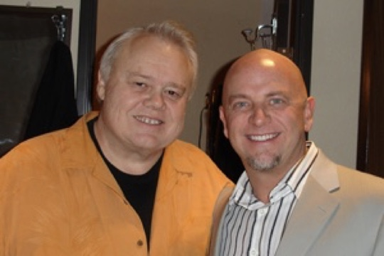 Don Barnhart and Louie Anderson hanging backstage