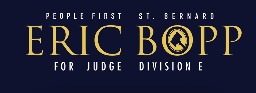 Eric Bopp For Judge - Logo