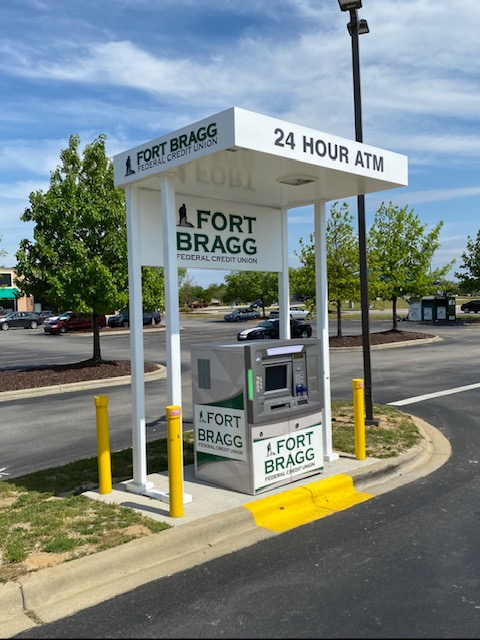 Fort Bragg FCU drive up ATM managed by ATM USA