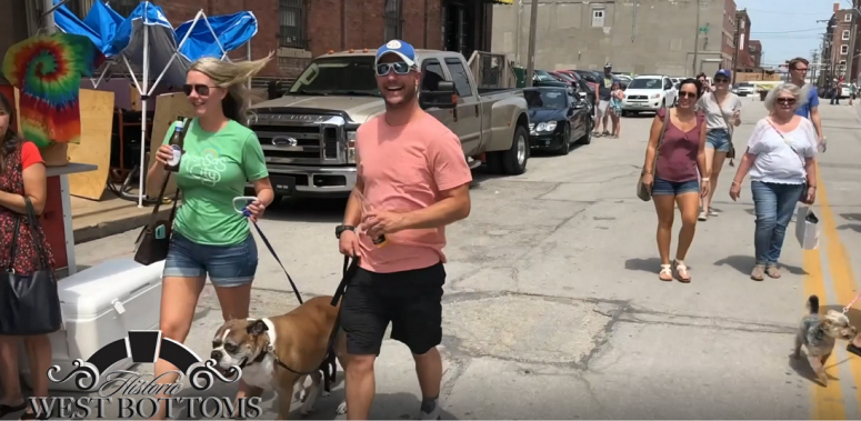 Furry friends have a good time in the West Bottoms