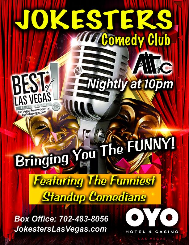 Jokesters Comedy Club Begins Nightly Residency At OYO Hotel & Casino