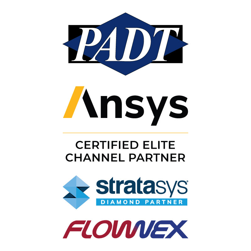 PADT represents Ansys, Stratasys, and Flownex