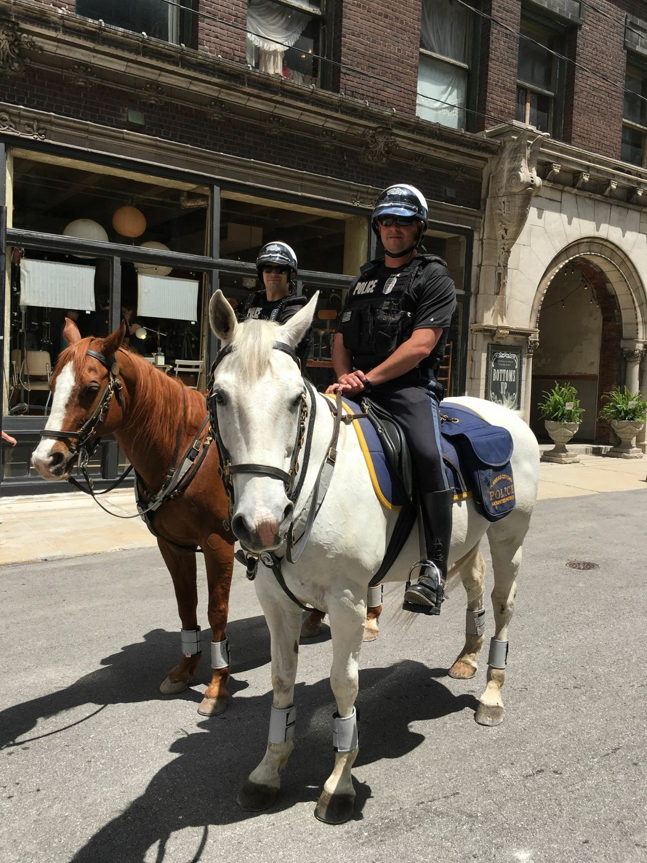 West Bottoms welcomes the Mounted Patrol!